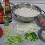 Ingredients for fried rice