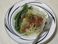 Pitjil with peanut sauce