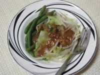 Pitjil with peanut sauce