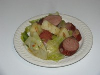 Cabbage-sausage-potato meal