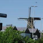 Dutch windmill in the city